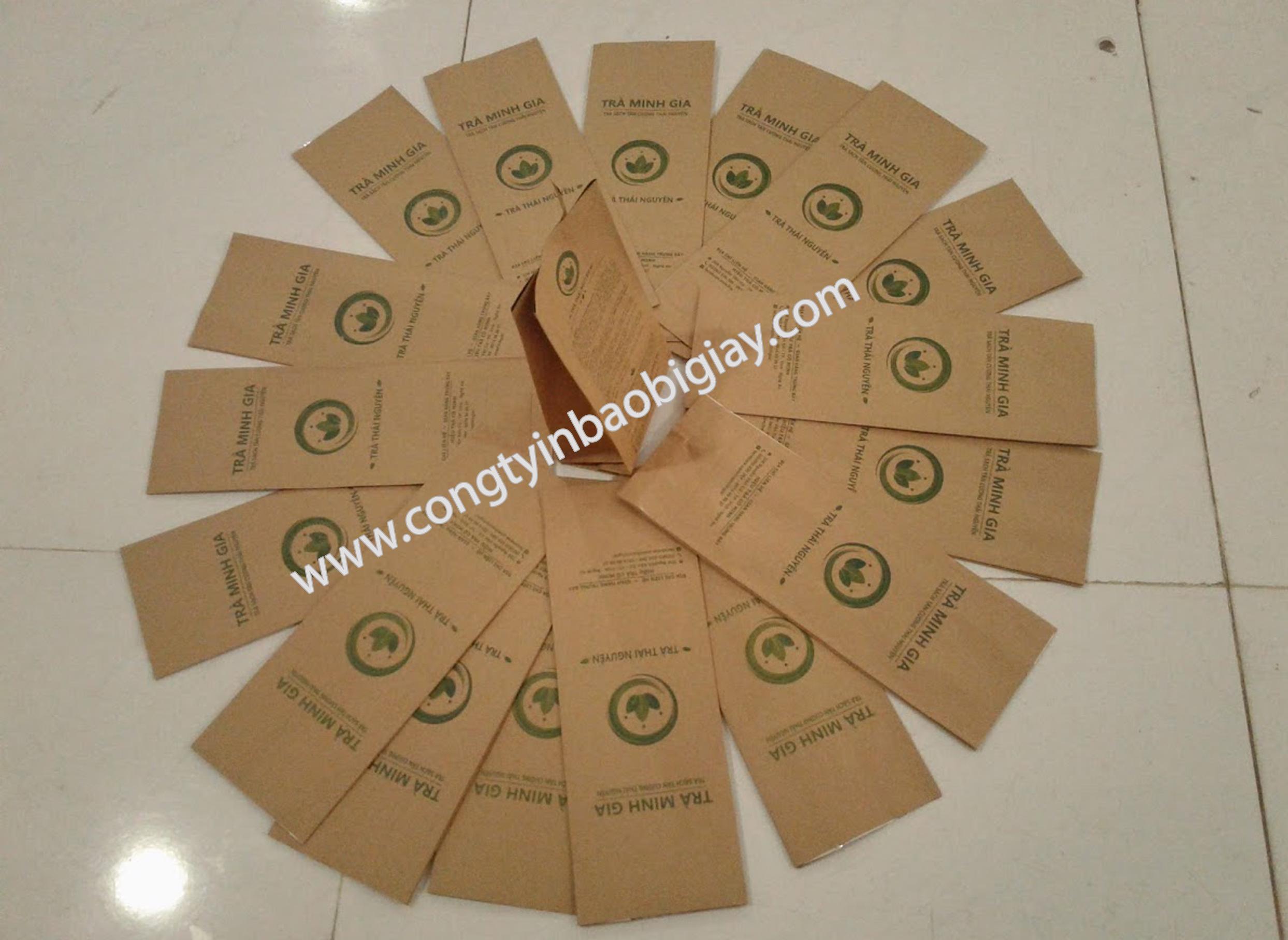 In túi giấy ghép màng nhôm cafe giấy kraft| baobimangghep.com