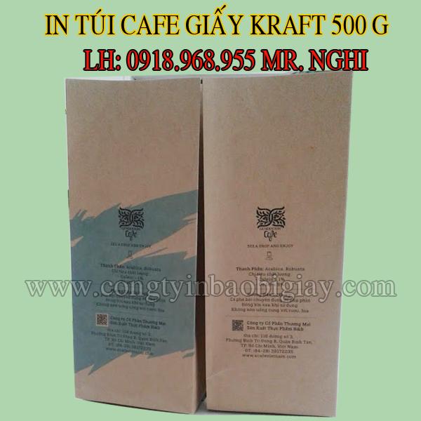 in tui dung cafe giay kraft, in tui cafe giay kraft| baobimangghep.com