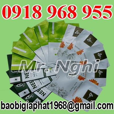 In túi đựng bột mỹ phẩm| baobimangghep.com